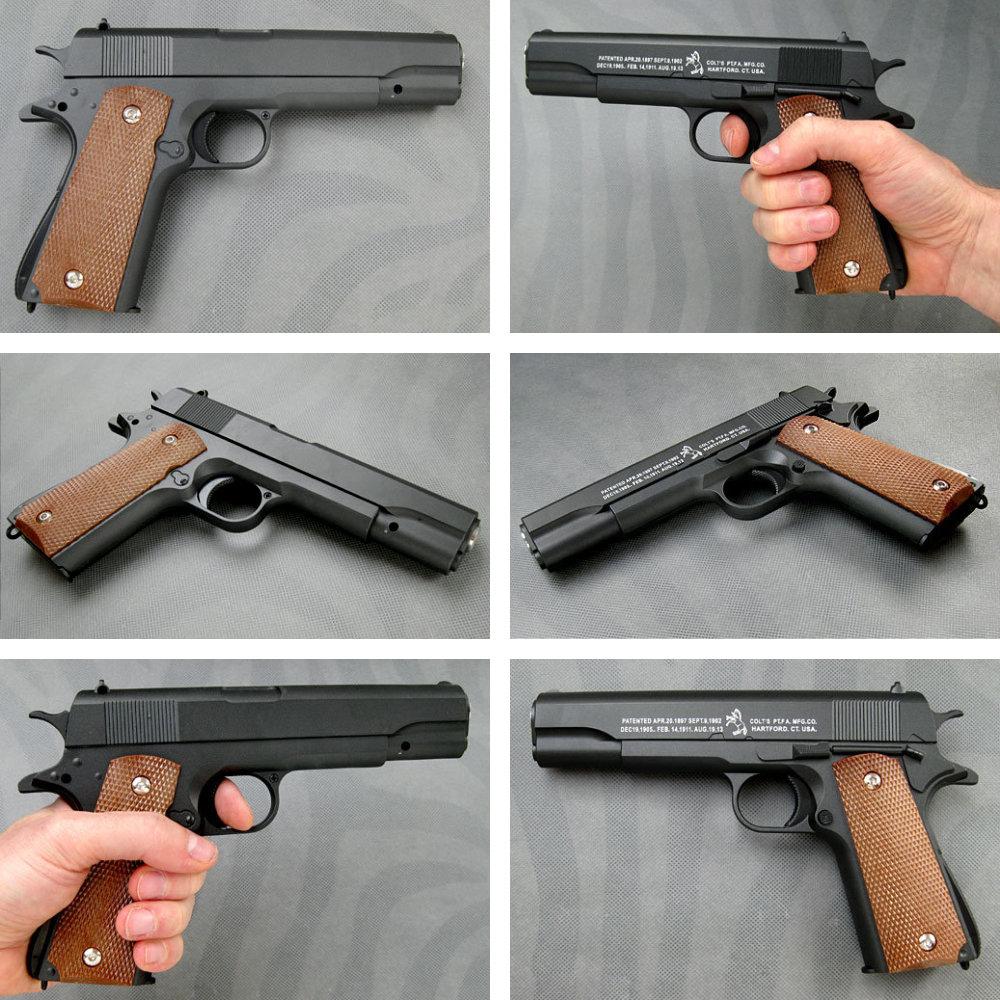 Filmwaffen: Colt 1911, Softair-Pistole ... https://spaceart.de/produkte/filmwaffe-colt-1911-softair-pistole-cybergun-fwf001.php
