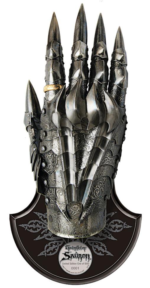 Herr der Ringe: Saurons Handschuh, Fertig-Modell ... https://spaceart.de/produkte/hdr001-saurons-handschuh-gauntlet-herr-der-ringe-united-cutlery-uc3065-760729306516-spaceart.php