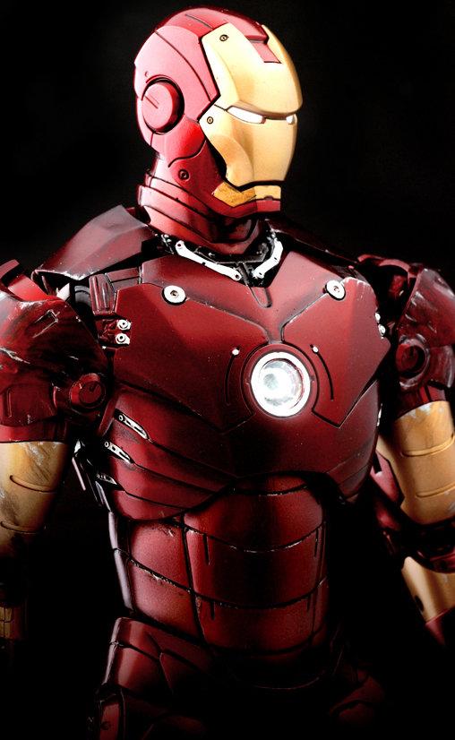 Iron Man 1: Iron Man Mark III - Battle Damaged, 1/6 Figur ... https://spaceart.de/produkte/irm003-iron-man-mark-iii-3-battle-damaged-figur-hot-toys-mms110-4897011172910-spaceart.php