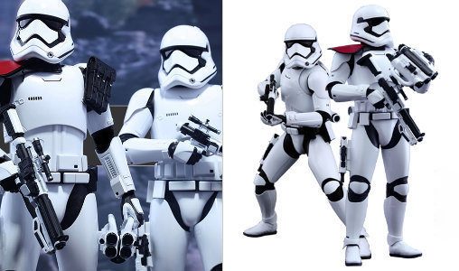Star Wars: First Order Stormtrooper Officer und Stormtrooper, Deluxe-Figuren (voll beweglich) ... https://spaceart.de/produkte/sw149.php