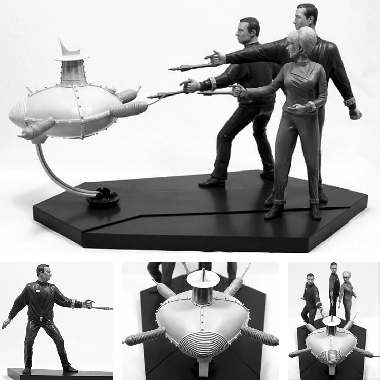 Raumpatrouille Orion: Crew vs. Robot Diorama, Diorama ... https://spaceart.de/produkte/raumpatrouille-orion-crew-vs-robot-diorama-strauss-ror009.php