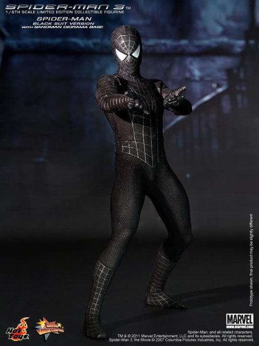 Spider-Man 3: Black Suit Spider-Man mit Sandman Diorama, 1/6 Figur ... https://spaceart.de/produkte/spm009-black-suit-spider-man-3-mit-sandman-diorama-figur-hot-toys-mms165-4897011174228-spaceart.php