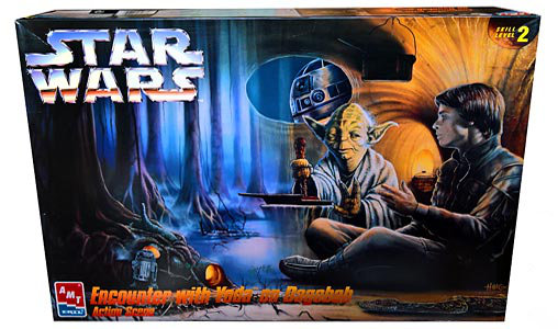 star wars yoda und luke auf dagobah modell bausatz amt ertl ebay. Black Bedroom Furniture Sets. Home Design Ideas