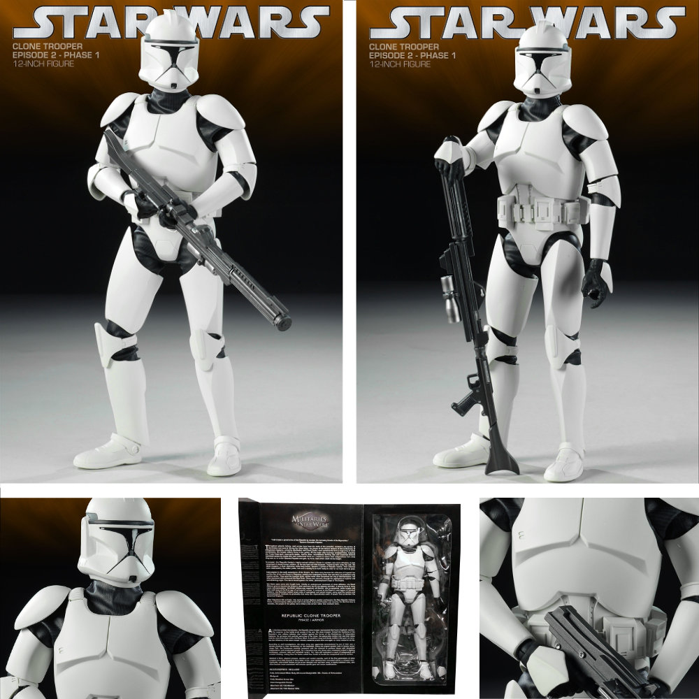 Star Wars - Attack Of The Clones: Republic Clone Trooper - Phase I Armor, 1/6 Figur ... https://spaceart.de/produkte/sw030-republic-clone-trooper-phase-i-armor-figur-sideshow-star-wars-attack-of-the-clones-100002-747720212831-spaceart.php