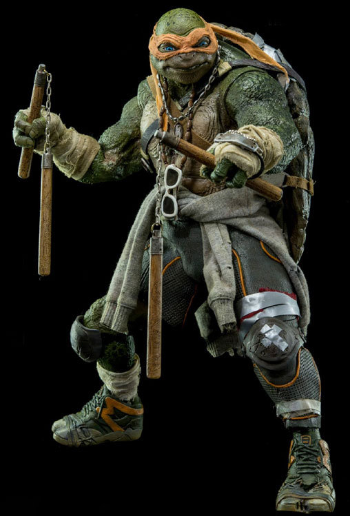 Teenage Mutant Ninja Turtles: Michelangelo, Deluxe-Figur (voll beweglich) ... https://spaceart.de/produkte/mnt001.php