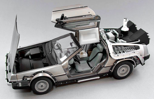 zur ck in die zukunft 2 delorean flug version fertig modell sun star ebay. Black Bedroom Furniture Sets. Home Design Ideas
